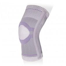 Эластичный бандаж на коленный сустав с кольцом и ребрами жесткости KS-E03