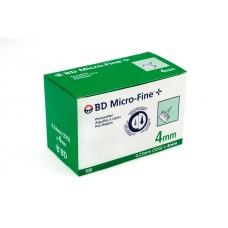 Иглы для шприц-ручки Микрофайн Плюс 4мм(G32) 100 шт.(Micro-Fine Plus)