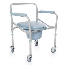 Кресло-туалет облегченный, на колесах LK 8005 W / FS 696