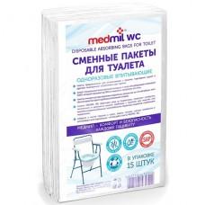 """Пакеты сменные для туалета """"Medmil WC"""" 1/15 шт."""