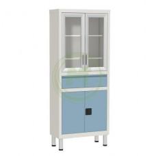 Шкаф медицинский в цветном исполнении с ящиками Р-ШМС643 1750х700х320мм
