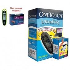 Глюкометр OneTouch Ultra Easy (Уан Тач Ультра Изи) (в подарок тест-полоски 50 шт.)