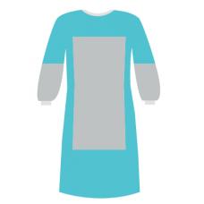 Халат хирургический нестерильный Евростандарт с ламинацией переда и рукавов