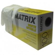 Перчатки нитриловые смотровые MATRIX White NITRILE 100шт. *