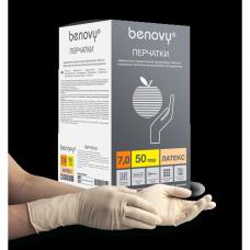 Перчатки латексные хирургические стерильные опудренные BENOVY