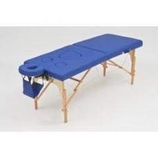 Стол массажный переносной с деревянной рамой и вырезом для живота JFMS05D