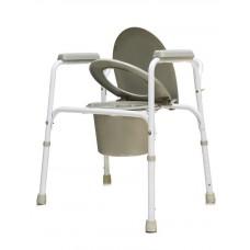 Кресло-туалет стальное со спинкой AMCB92 (AMCB6803)