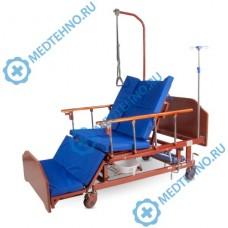 Кровать E-45A механическая с туалетным устройством, функциями «Кардиокресло» и боковым переворачиванием