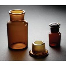 Склянка с притертой пробкой (широкое горло, темная)