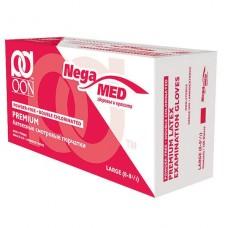 Латексные медицинские перчатки, 2-х кратного хлорирования, текстурированные (не стерильные) OON PREMIUM 100 шт.