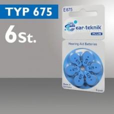 Батарейка EAR-TECHNIC 675 (1уп/6шт)