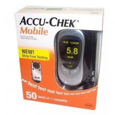 Глюкометр Акку-Чек Мобайл (Accu-chek Mobile) + кассета на 50 тестов