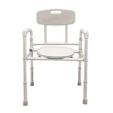 Кресло-туалет облегченный со спинкой, складной AMCB 6808