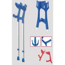 Локтевой костыль с эргономичной/анатомической мягкой рукояткой и системой фиксации Мэджик-Софт арт.109